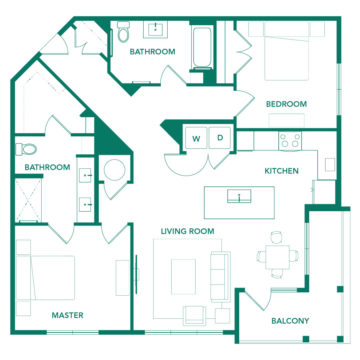 Rendering of the B3 floor plan layout